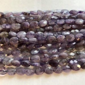 Shop Charoite Faceted Beads! Charoite Faceted Flat Oval Shaped Natural Gemstone Bead-8x6x3mm~ -15.5 Inch Strand- | Natural genuine faceted Charoite beads for beading and jewelry making.  #jewelry #beads #beadedjewelry #diyjewelry #jewelrymaking #beadstore #beading #affiliate #ad