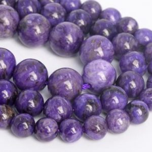 Purple Charoite Loose Beads Grade A Round Shape 6mm 7-8mm 10mm | Natural genuine round Gemstone beads for beading and jewelry making.  #jewelry #beads #beadedjewelry #diyjewelry #jewelrymaking #beadstore #beading #affiliate #ad