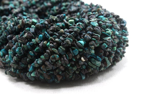 """16"""" Long Natural Chrysocolla Chips Beads,uncut Beads,chrysocolla Bead,4-6 Mm,jewelry Making,polished Smooth Beads,gemstone ,wholesale Price"""
