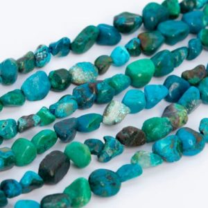 Shop Chrysocolla Chip & Nugget Beads! Genuine Natural Multicolor Chrysocolla Loose Beads Grade AAA Pebble Nugget Shape 7-9mm | Natural genuine chip Chrysocolla beads for beading and jewelry making.  #jewelry #beads #beadedjewelry #diyjewelry #jewelrymaking #beadstore #beading #affiliate #ad