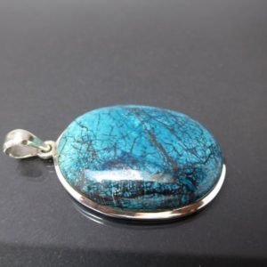 Shop Chrysocolla Jewelry! Chrysocolla Shattuckite 925 silver pendant / S03 / cabochon sterling silver pendant / gift / rarity / rare / Gemstone Pendant birthstone | Natural genuine Chrysocolla jewelry. Buy crystal jewelry, handmade handcrafted artisan jewelry for women.  Unique handmade gift ideas. #jewelry #beadedjewelry #beadedjewelry #gift #shopping #handmadejewelry #fashion #style #product #jewelry #affiliate #ad
