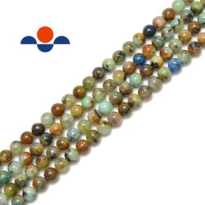 "Shop Chrysocolla Round Beads! Natural Multi Chrysocolla Smooth Round Beads 6mm 8mm 10mm 12mm 15.5"" Strand 