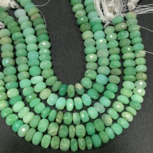 Shop Chrysoprase Faceted Beads! Fine Quality Chrysoprase Faceted Rondelle Beads, 8 Inches Strand | Natural genuine faceted Chrysoprase beads for beading and jewelry making.  #jewelry #beads #beadedjewelry #diyjewelry #jewelrymaking #beadstore #beading #affiliate #ad