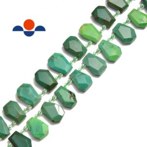 "Shop Chrysoprase Faceted Beads! Chrysoprase Faceted Trapezoid Shape Beads Approx 15x22mm 15.5"" Strand 