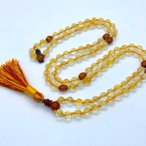Shop Citrine Necklaces! Abundance Citrine Mala Beads Necklace, Gold Citrine Necklace, November Birthstone Yellow, Simple Necklace, Minimalist Necklace AAA gift her   Natural genuine Citrine necklaces. Buy crystal jewelry, handmade handcrafted artisan jewelry for women.  Unique handmade gift ideas. #jewelry #beadednecklaces #beadedjewelry #gift #shopping #handmadejewelry #fashion #style #product #necklaces #affiliate #ad