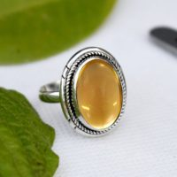Natural Citrine Ring, promise Ring, november Birthstone, citrine Ring, solid 925 Sterling Silver Yellow Ring, handmade Jewelry, cab Citrine Ring, | Natural genuine Gemstone jewelry. Buy crystal jewelry, handmade handcrafted artisan jewelry for women.  Unique handmade gift ideas. #jewelry #beadedjewelry #beadedjewelry #gift #shopping #handmadejewelry #fashion #style #product #jewelry #affiliate #ad
