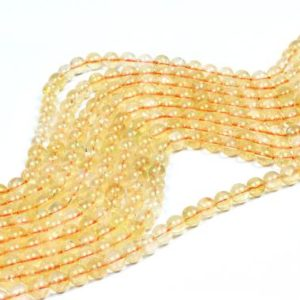 "Shop Citrine Round Beads! Natural Citrine beads,AA round beads,semiprecious beads,gemstone beads,November birthstone,jewelry supplies diy – 16"" Full Strand 