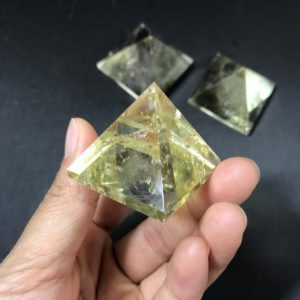 Shop Citrine Shapes! Citrine Pyramid – Crystal Pyramid 30mm 40mm 50mm | Natural genuine stones & crystals in various shapes & sizes. Buy raw cut, tumbled, or polished gemstones for making jewelry or crystal healing energy vibration raising reiki stones. #crystals #gemstones #crystalhealing #crystalsandgemstones #energyhealing #affiliate #ad