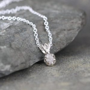 Shop Diamond Jewelry! Raw Diamond Pendant – 0.50 carat Diamond Necklace – Uncut Rough Diamond – Sterling Silver – April Birthstone – Jewelery Made in Canada – | Natural genuine Diamond jewelry. Buy crystal jewelry, handmade handcrafted artisan jewelry for women.  Unique handmade gift ideas. #jewelry #beadedjewelry #beadedjewelry #gift #shopping #handmadejewelry #fashion #style #product #jewelry #affiliate #ad
