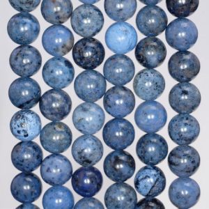 Shop Dumortierite Beads! 8mm South Africa Dumortierite Light Blue Gemstone Grade AAA Blue Round 8mm Loose Beads 7.5 inch Half Strand (80004629 H-115) | Natural genuine round Dumortierite beads for beading and jewelry making.  #jewelry #beads #beadedjewelry #diyjewelry #jewelrymaking #beadstore #beading #affiliate #ad