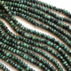 Shop Emerald Necklaces! 9-11mm Emerald Faceted Rondelle Beads, Natural Emerald Faceted Rondelle Beads, Emerald For Necklace (4IN To 8IN Options) – AAG25 | Natural genuine Emerald necklaces. Buy crystal jewelry, handmade handcrafted artisan jewelry for women.  Unique handmade gift ideas. #jewelry #beadednecklaces #beadedjewelry #gift #shopping #handmadejewelry #fashion #style #product #necklaces #affiliate #ad