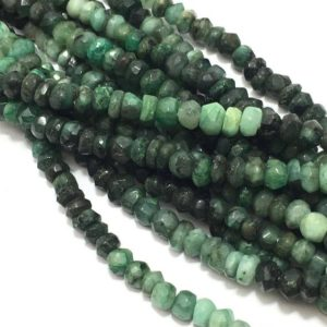 Shop Emerald Beads! 4 – 5 mm Emerald Shaded Handcut Rondelle 4 to 5 Gemstone Beads Strand Sale / Semi Precious Beads / Emerald Beads / 4 mm Emerald Wholesale | Natural genuine beads Emerald beads for beading and jewelry making.  #jewelry #beads #beadedjewelry #diyjewelry #jewelrymaking #beadstore #beading #affiliate #ad