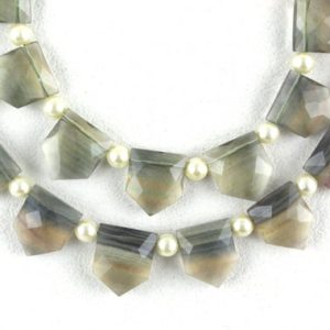 Shop Fluorite Faceted Beads! AAA Quality 1 Strand Natural Fluorite,Faceted Fluorite,9×11-10×11 MM,Fluorite Gemstone,Pentagon Shape,14 Pieces,Fluorite,Wholesale Price, | Natural genuine faceted Fluorite beads for beading and jewelry making.  #jewelry #beads #beadedjewelry #diyjewelry #jewelrymaking #beadstore #beading #affiliate #ad