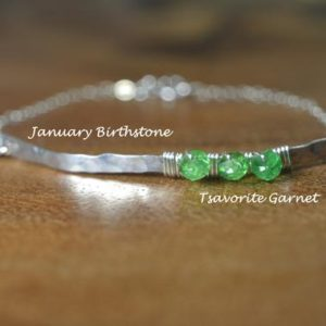 Shop Garnet Bracelets! Modern Tsavorite Garnet Bead Bracelet in Sterling Silver, 14k Gold Fill // January Birthstone Bracelet // 25th Anniversary // Cuff Bracelet | Natural genuine Garnet bracelets. Buy crystal jewelry, handmade handcrafted artisan jewelry for women.  Unique handmade gift ideas. #jewelry #beadedbracelets #beadedjewelry #gift #shopping #handmadejewelry #fashion #style #product #bracelets #affiliate #ad