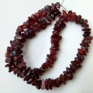 Shop Garnet Chip & Nugget Beads! 6-11mm Garnet Rough Beads, Natural Loose Raw Garnet Gemstone, Garnet Rough Beads For Jewelry, 13 Inches Garnet Rough Nuggets – PDG162 | Natural genuine chip Garnet beads for beading and jewelry making.  #jewelry #beads #beadedjewelry #diyjewelry #jewelrymaking #beadstore #beading #affiliate #ad