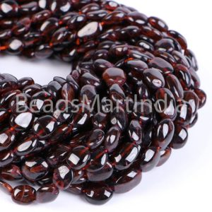 Shop Garnet Chip & Nugget Beads! Mozambique Garnet Smooth Nugget Beads, Mozambique Garnet Plain Beads, Garnet Beads, Mozambique Garnet Beads, Mozambique Garnet Nugget Beads | Natural genuine chip Garnet beads for beading and jewelry making.  #jewelry #beads #beadedjewelry #diyjewelry #jewelrymaking #beadstore #beading #affiliate #ad