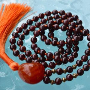 Shop Garnet Necklaces! 108 Energized Genuine Garnet Mala bead Necklace Grounding, Stability, Physical need, Aids Sexual life, Security, Survival,Manifestation, Cen   Natural genuine Garnet necklaces. Buy crystal jewelry, handmade handcrafted artisan jewelry for women.  Unique handmade gift ideas. #jewelry #beadednecklaces #beadedjewelry #gift #shopping #handmadejewelry #fashion #style #product #necklaces #affiliate #ad