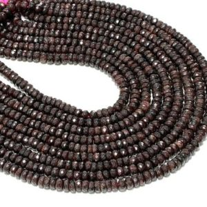 "Shop Garnet Rondelle Beads! Large garnet beads,rondelles beads,garnet jewelry,wholesale beads,jewelry making supplies,irregular beads diy – 16"" Strand 