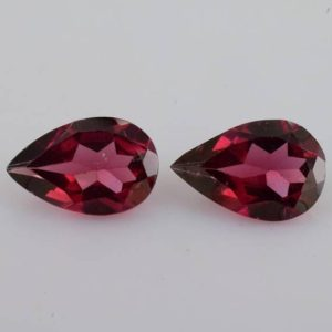 Shop Garnet Shapes! 9×6 mm Natural Rhodolite Garnet Faceted Cut Pear 2.65 cts 2 Pieces AAA+ Grade Loose Gemstone – Natural Rhodolite Garnet Gemstone -ROPRP-1164 | Natural genuine stones & crystals in various shapes & sizes. Buy raw cut, tumbled, or polished gemstones for making jewelry or crystal healing energy vibration raising reiki stones. #crystals #gemstones #crystalhealing #crystalsandgemstones #energyhealing #affiliate #ad