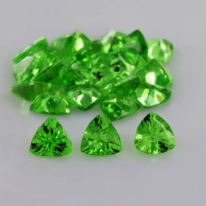 Shop Garnet Shapes! Natural Tsavorite Garnet 3.5×3.5×1.7 mm Faceted Trillion AAA Grade Loose Gemstone – 100% Natural Green Tsavorite Garnet Gemstone -TSGRN-1085 | Natural genuine stones & crystals in various shapes & sizes. Buy raw cut, tumbled, or polished gemstones for making jewelry or crystal healing energy vibration raising reiki stones. #crystals #gemstones #crystalhealing #crystalsandgemstones #energyhealing #affiliate #ad