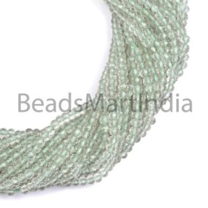 Shop Green Amethyst Beads! Green Amethyst Faceted Rondelle Indian Cut, Green Amethyst Beads, Green Amethyst Faceted Rondelle Cut Beads, Green Amethyst Wholesale Beads | Natural genuine faceted Green Amethyst beads for beading and jewelry making.  #jewelry #beads #beadedjewelry #diyjewelry #jewelrymaking #beadstore #beading #affiliate #ad