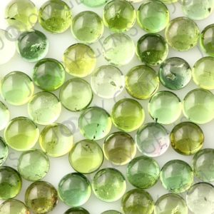 Shop Green Tourmaline Stones & Crystals! Light Green Tourmaline Cabochon 5mm Round – Per Stone | Natural genuine stones & crystals in various shapes & sizes. Buy raw cut, tumbled, or polished gemstones for making jewelry or crystal healing energy vibration raising reiki stones. #crystals #gemstones #crystalhealing #crystalsandgemstones #energyhealing #affiliate #ad