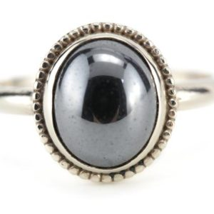 Shop Hematite Rings! The Emma Hematite Cocktail Ring, Elizabeth Henry Collection  NW7VTC-P | Natural genuine Hematite rings, simple unique handcrafted gemstone rings. #rings #jewelry #shopping #gift #handmade #fashion #style #affiliate #ad
