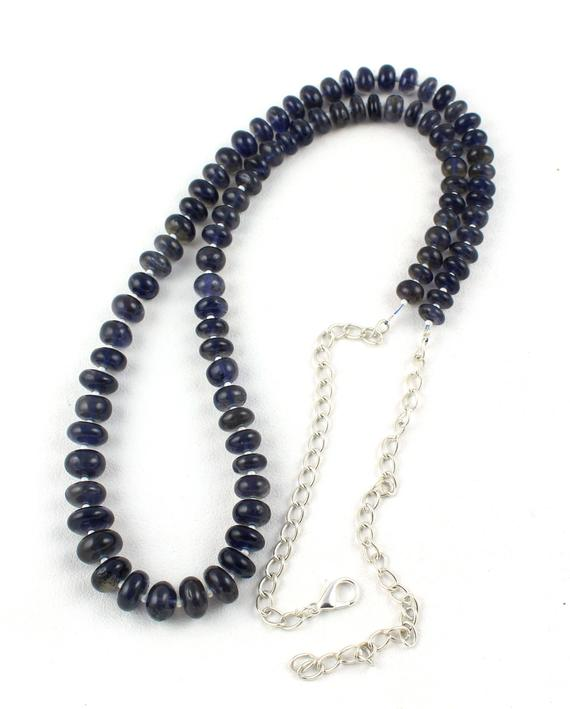 Aaa+ Quality 1 Necklace Strand Natural Iolite Beads-iolite Rondelle Beads,smooth Beads,rondelle Beads,best Price,tiny Beads,iolite Necklace