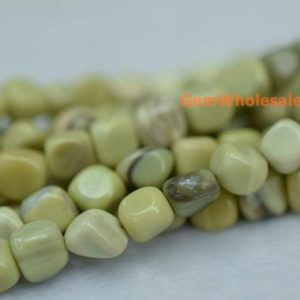 "Shop Jade Chip & Nugget Beads! 15.5"" 5~7mm Butter jade pebbles beads, small Butter jade pebbles, Butter jade potato beads, small nugget beads 