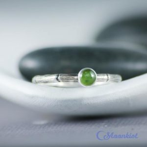 Shop Jade Rings! Dainty Jade Promise Ring, Sterling Silver Natural Jade Pinkie Ring, Bamboo Ring for Her | Moonkist Designs | Natural genuine Jade rings, simple unique handcrafted gemstone rings. #rings #jewelry #shopping #gift #handmade #fashion #style #affiliate #ad