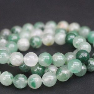 Shop Jade Round Beads! African Green Calcedony Beads,Smooth and Round Jade Beads,Green Jade Beads,15 inches one starand | Natural genuine round Jade beads for beading and jewelry making.  #jewelry #beads #beadedjewelry #diyjewelry #jewelrymaking #beadstore #beading #affiliate #ad