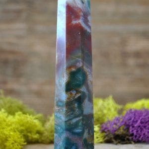 Fancy Jasper Crystal Multi Faceted Healing Wand  – 994 | Natural genuine stones & crystals in various shapes & sizes. Buy raw cut, tumbled, or polished gemstones for making jewelry or crystal healing energy vibration raising reiki stones. #crystals #gemstones #crystalhealing #crystalsandgemstones #energyhealing #affiliate #ad