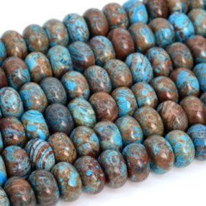Shop Jasper Rondelle Beads! Natural Blue Green Calsilica Jasper Loose Beads Rondelle Shape 6x3mm 8x5mm 10x6mm | Natural genuine rondelle Jasper beads for beading and jewelry making.  #jewelry #beads #beadedjewelry #diyjewelry #jewelrymaking #beadstore #beading #affiliate #ad