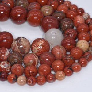 Genuine Natural Red Jasper Loose Beads Grade A Round Shape 6mm 8mm 10mm | Natural genuine round Gemstone beads for beading and jewelry making.  #jewelry #beads #beadedjewelry #diyjewelry #jewelrymaking #beadstore #beading #affiliate #ad