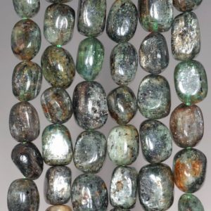 Shop Kyanite Chip & Nugget Beads! 8-9MM Green Kyanite Gemstone Pebble Nugget Granule Loose Beads 7.5 inch Half Strand (80001915 H-A28) | Natural genuine chip Kyanite beads for beading and jewelry making.  #jewelry #beads #beadedjewelry #diyjewelry #jewelrymaking #beadstore #beading #affiliate #ad
