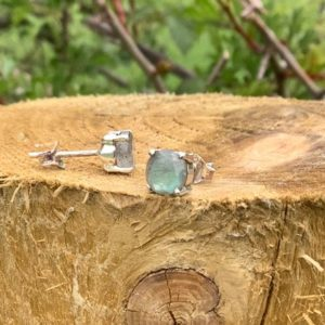 Womens Labradorite Silver Earrings, Gemstone Claw Studs, Bridesmaids Gift, Natural Round Stone Studs | Natural genuine Gemstone earrings. Buy crystal jewelry, handmade handcrafted artisan jewelry for women.  Unique handmade gift ideas. #jewelry #beadedearrings #beadedjewelry #gift #shopping #handmadejewelry #fashion #style #product #earrings #affiliate #ad