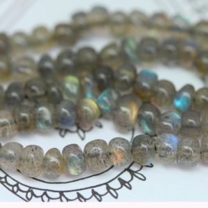 Labradorite Rondelle Handmade Beads 4-5 Mm Top Quality Flashy Labradorite / Blue Orange Green Labradorite Aaa Labradorite Beads / Set Of 8 | Natural genuine beads Gemstone beads for beading and jewelry making.  #jewelry #beads #beadedjewelry #diyjewelry #jewelrymaking #beadstore #beading #affiliate #ad