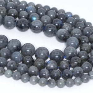 Shop Labradorite Round Beads! Genuine Natural Deep Gray Labradorite Loose Beads Madagascar Grade AA Round Shape 5-6mm 7-8mm 10mm | Natural genuine round Labradorite beads for beading and jewelry making.  #jewelry #beads #beadedjewelry #diyjewelry #jewelrymaking #beadstore #beading #affiliate #ad