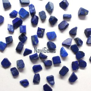 Shop Lapis Lazuli Chip & Nugget Beads! AAA Quality 50 Piece Natural Lapis Lazuli Rough,Rough Gemstone,Making Jewelry,6-8 MM Approx,Lapis Raw, Loose Gemstone,Wholesale Price | Natural genuine chip Lapis Lazuli beads for beading and jewelry making.  #jewelry #beads #beadedjewelry #diyjewelry #jewelrymaking #beadstore #beading #affiliate #ad