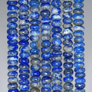 Shop Lapis Lazuli Rondelle Beads! 6X3MM Natural Lapis Lazuli Gemstone Grade AB Rondelle Loose Beads 15.5 inch Full Strand (80002678-A91) | Natural genuine rondelle Lapis Lazuli beads for beading and jewelry making.  #jewelry #beads #beadedjewelry #diyjewelry #jewelrymaking #beadstore #beading #affiliate #ad
