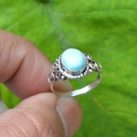 Natural Larimar Ring, 925 Silver Rings, Women Rings, 7×9 Mm Oval Larimar Ring, Gemstone Silver Jewelry, Larimar Ring, Gemstone Silver Ring | Natural genuine Gemstone jewelry. Buy crystal jewelry, handmade handcrafted artisan jewelry for women.  Unique handmade gift ideas. #jewelry #beadedjewelry #beadedjewelry #gift #shopping #handmadejewelry #fashion #style #product #jewelry #affiliate #ad
