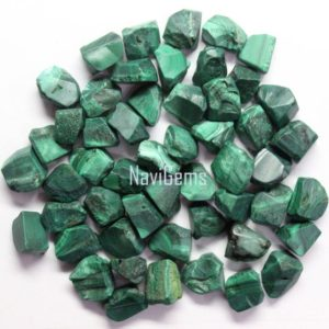 Shop Malachite Beads! Aaa Quality 50 Piece Natural Malachite Rough, malachite Rough Gemstone, making Jewelry, 6-8 Mm Approx, malachite , loose Gemstone, wholesale Price | Natural genuine beads Malachite beads for beading and jewelry making.  #jewelry #beads #beadedjewelry #diyjewelry #jewelrymaking #beadstore #beading #affiliate #ad