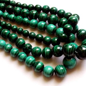 Shop Malachite Necklaces! Malachite Beads, Malachite Plain Round Balls, Natural Malachite Beads, Malachite Necklace, 7-15mm, 8 Inch, 22 Pcs – RAMA68 | Natural genuine Malachite necklaces. Buy crystal jewelry, handmade handcrafted artisan jewelry for women.  Unique handmade gift ideas. #jewelry #beadednecklaces #beadedjewelry #gift #shopping #handmadejewelry #fashion #style #product #necklaces #affiliate #ad