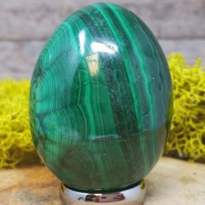 Shop Malachite Shapes! Malachite Crystal Egg –  1260.141 | Natural genuine stones & crystals in various shapes & sizes. Buy raw cut, tumbled, or polished gemstones for making jewelry or crystal healing energy vibration raising reiki stones. #crystals #gemstones #crystalhealing #crystalsandgemstones #energyhealing #affiliate #ad