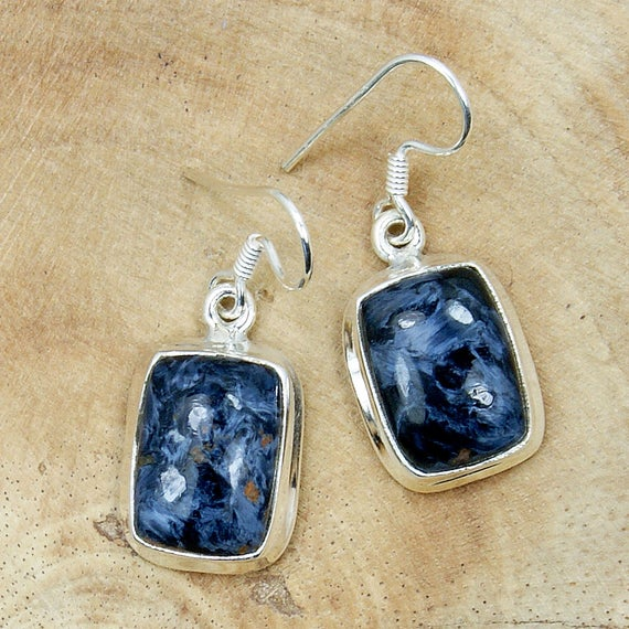 Natural Pietersite Earrings Sterling Silver Earrings Ae156 Ae193 The Silver Plaza