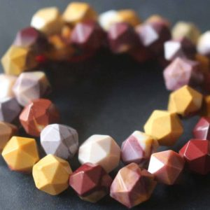 Shop Mookaite Beads! Natural Faceted Mookaite Star Cut Nugget Beads,6mm/8mm/10mm/12mm Beads Supply,15 inches one starand | Natural genuine chip Mookaite beads for beading and jewelry making.  #jewelry #beads #beadedjewelry #diyjewelry #jewelrymaking #beadstore #beading #affiliate #ad