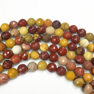 Shop Mookaite Jasper Faceted Beads! 8mm Faceted Mookaite Beads, Gemstone Beads, Wholesale Beads | Natural genuine faceted Mookaite Jasper beads for beading and jewelry making.  #jewelry #beads #beadedjewelry #diyjewelry #jewelrymaking #beadstore #beading #affiliate #ad