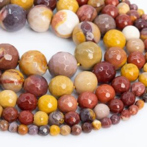 Shop Mookaite Jasper Faceted Beads! Genuine Natural Mookaite Loose Beads Micro Faceted Round Shape 6mm 8mm 10mm 12mm | Natural genuine faceted Mookaite Jasper beads for beading and jewelry making.  #jewelry #beads #beadedjewelry #diyjewelry #jewelrymaking #beadstore #beading #affiliate #ad