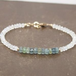 Shop Moonstone Bracelets! Moss Aquamarine and Moonstone Bracelet, Moss Aquamarine Jewelry, Layering, Gemstone Bracelet | Natural genuine Moonstone bracelets. Buy crystal jewelry, handmade handcrafted artisan jewelry for women.  Unique handmade gift ideas. #jewelry #beadedbracelets #beadedjewelry #gift #shopping #handmadejewelry #fashion #style #product #bracelets #affiliate #ad