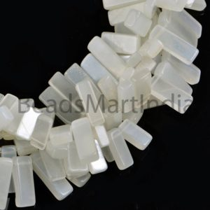 Shop Moonstone Bead Shapes! Natural White Moonstone Plain Fancy Shape Beads, White Moonstone Stick Shape Beads, White Moonstone Plain Beads, Moonstone Smooth Beads | Natural genuine other-shape Moonstone beads for beading and jewelry making.  #jewelry #beads #beadedjewelry #diyjewelry #jewelrymaking #beadstore #beading #affiliate #ad